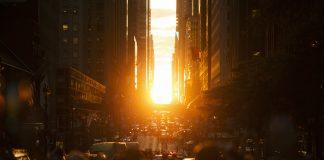 Manhattanhenge New York City Sunset