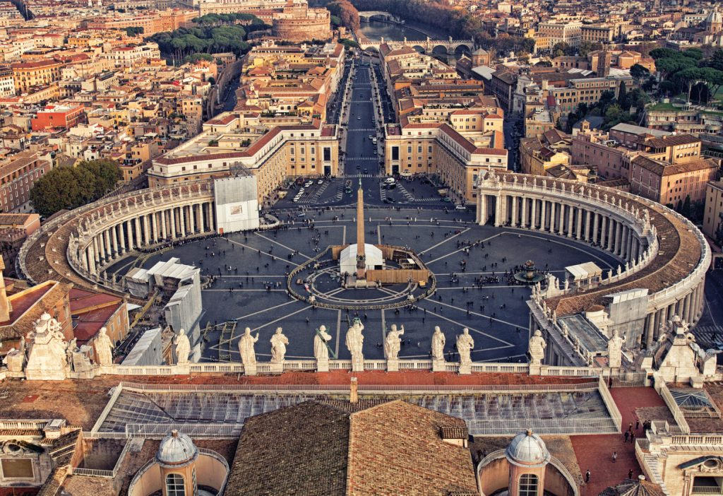 The magnificent view of St. Peter's Square from Michaelangelo's dome