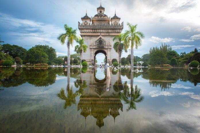 Patuxay Monument in Vientiane, Laos.