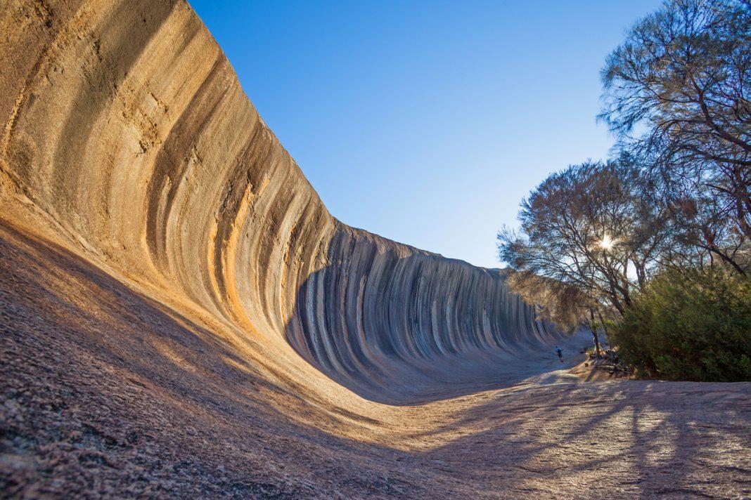 Wave Rock, near Hyden in Western Australia.
