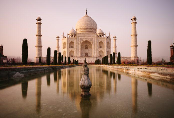 Taj Mahal at dusk, Agra, India