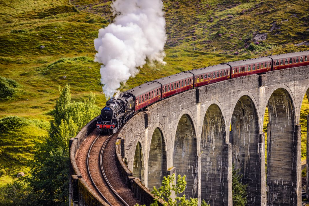 Glenfinnan, Scotland, United Kingdom - September 9, 2015, Hogwarts, Virtual Train Rides