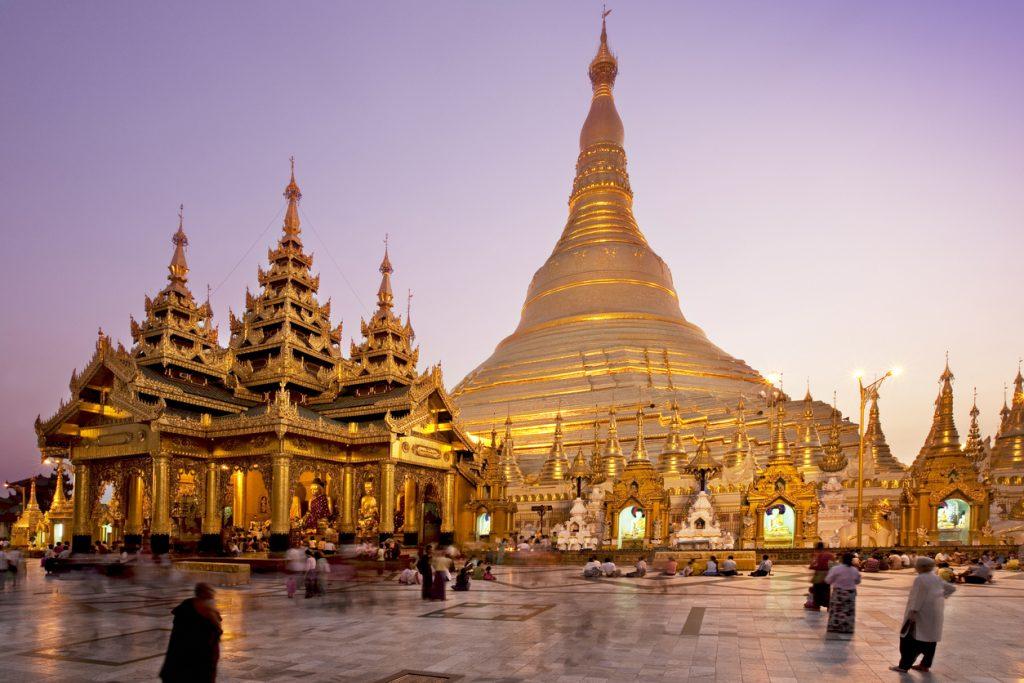 Shwedagon Pagoda in Yangon - Myanmar