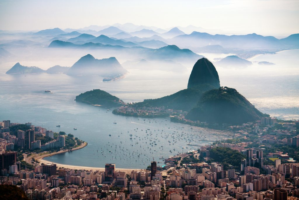 The Sugarloaf mountain in morning mist and Botafogo bay, Rio de Janeiro, things to do in Rio de Janeiro, Zodiac Signs