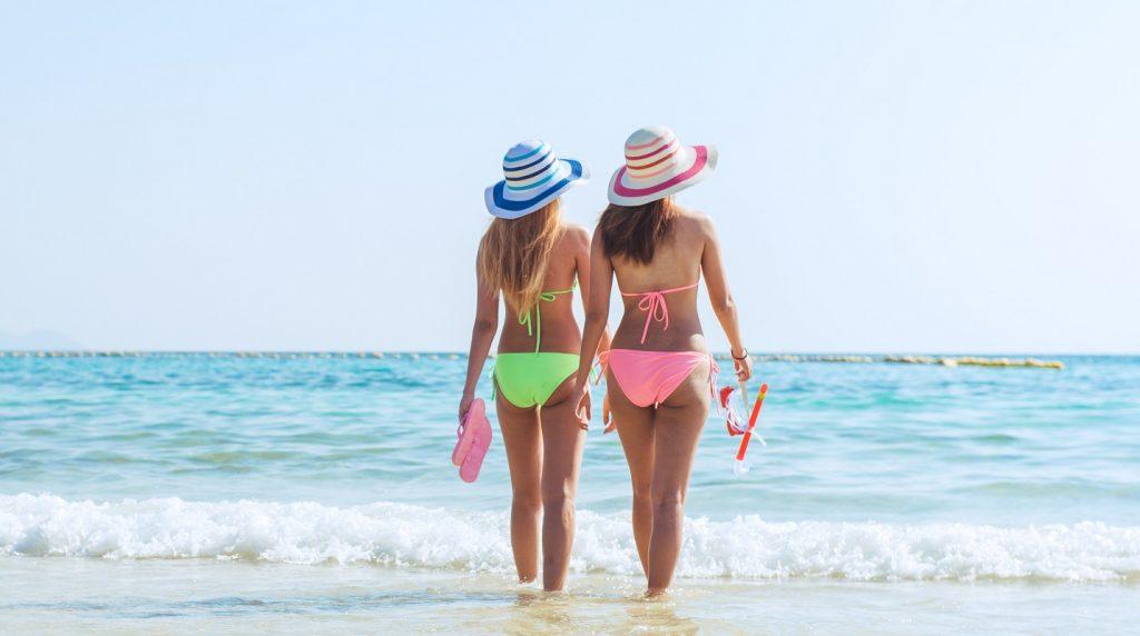 beach bikini, Caribbean