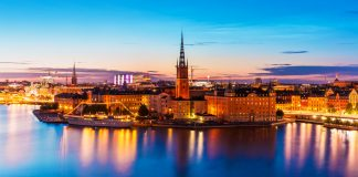 best clubs in Stockholm, Night view Stockholm City, Sweden