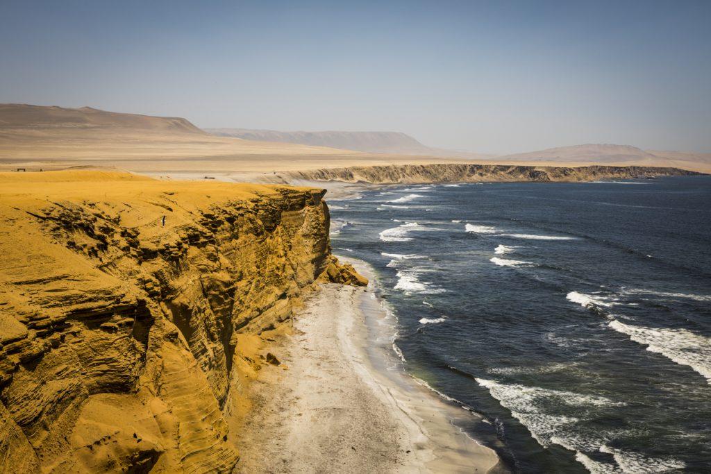 Coastline in Paracas National Reserve, Paracas desert, Ica Region, best adventure trips for couples