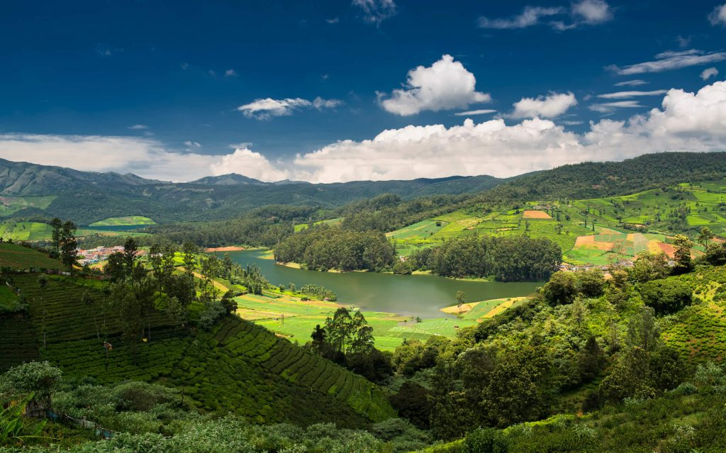 Emerald lake in Ooty surrounded by tea plantations, Family Vacations