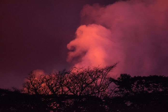 Selfies Gone Terribly Wrong, Lava flowing and glowing from the Kilauea Volcano, fissure 8 near Pahoa at night.