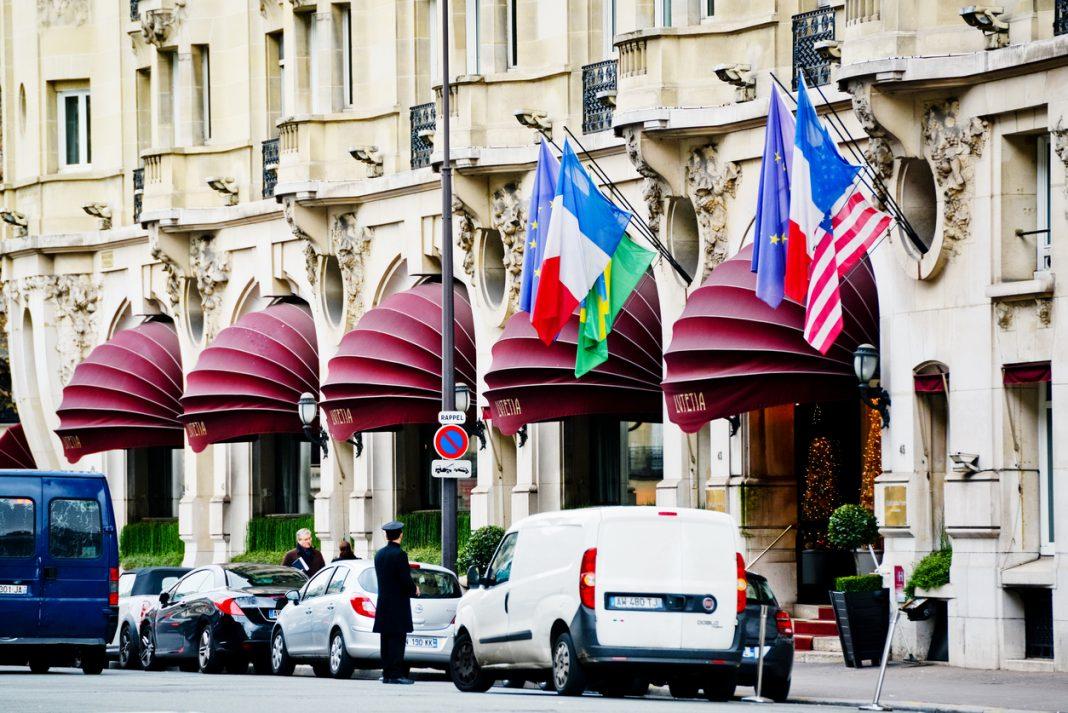 Entrance to Lutetia Hotel, Paris