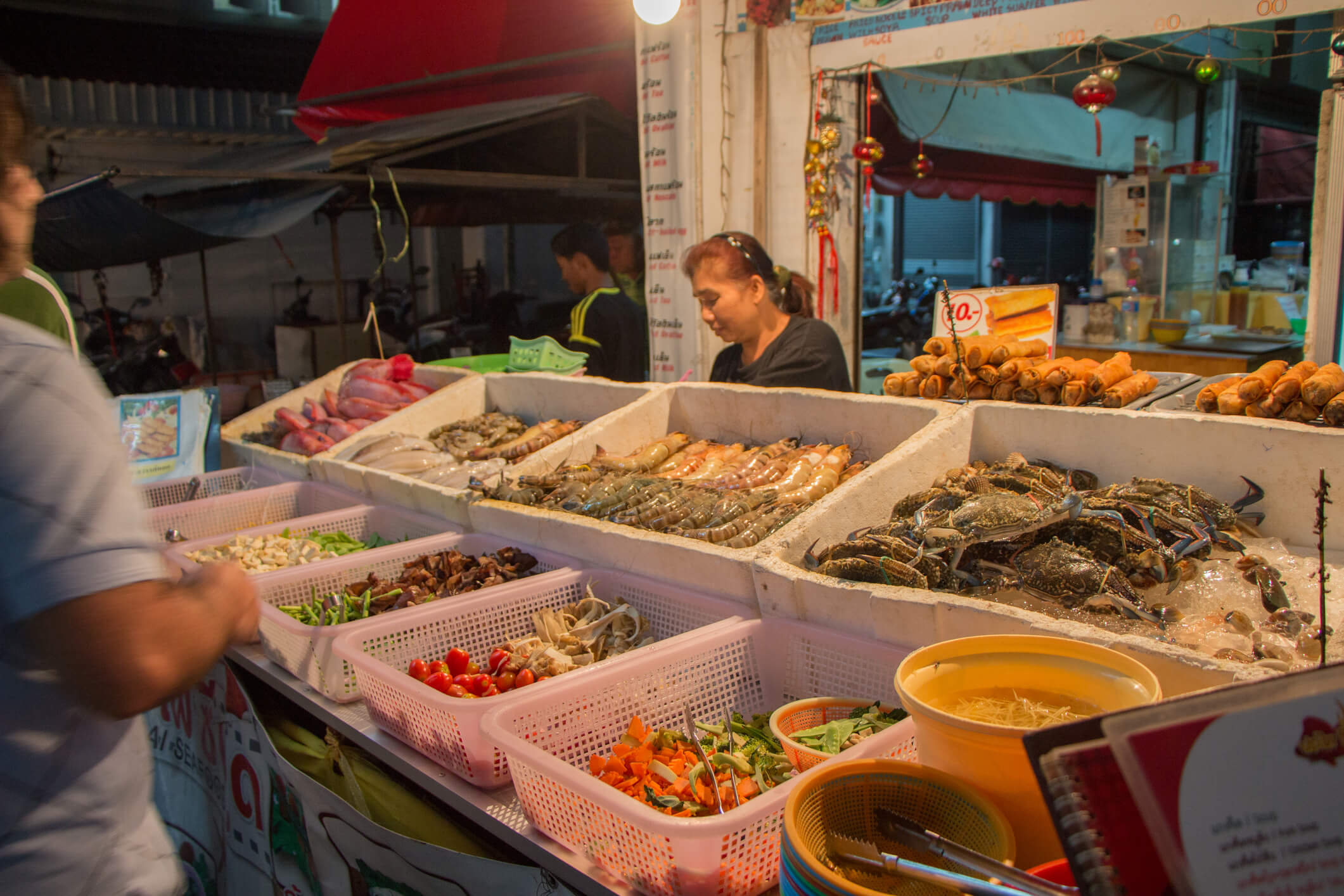 Night market in Koh phangan - top 7 islands in Thailand