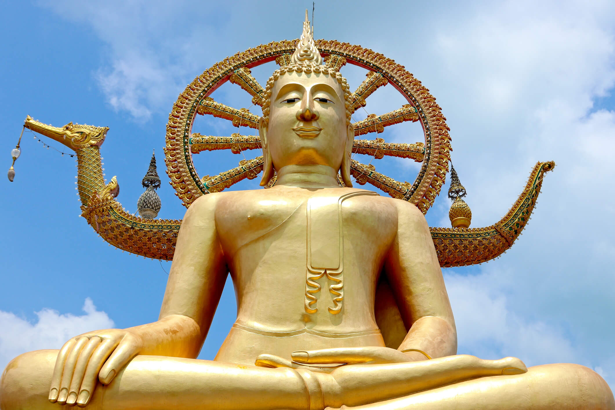 Buddha Temple, Wat Phra Yai temple near Bangrak beach in Koh Samui, Thailand
