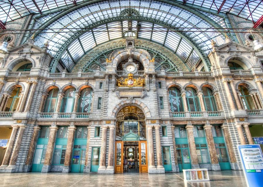 Belgium City Central Station Antwerp Station