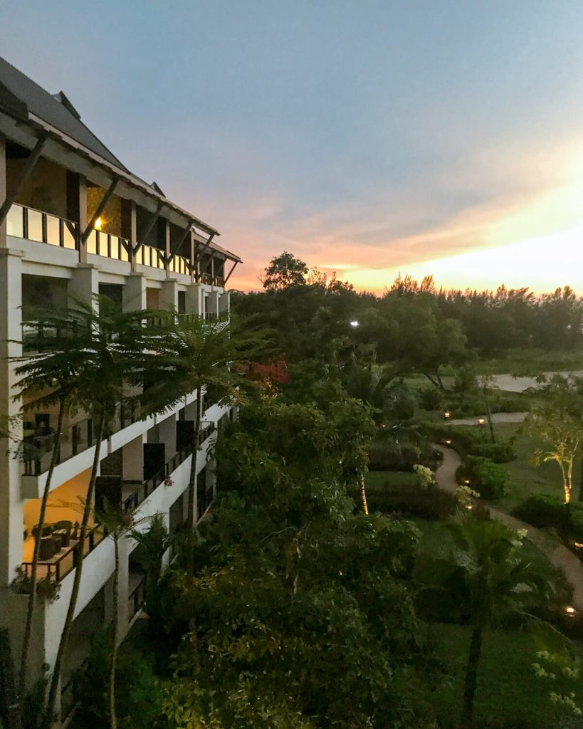 A sunset view from Shangri La Rasa Ria