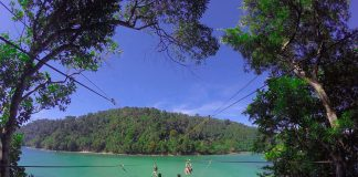Island to island zipline - things to do in Sabah