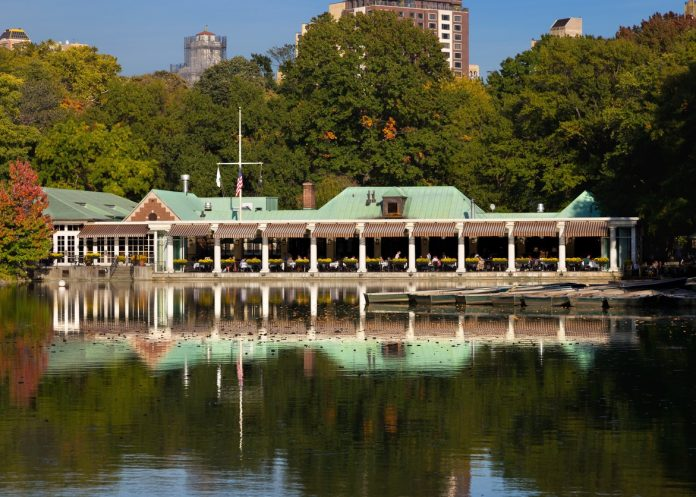 Central Park, Lake, Loeb Boathouse Restaraunt New York City