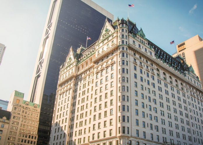 facade of the famous Plaza hotel in New York