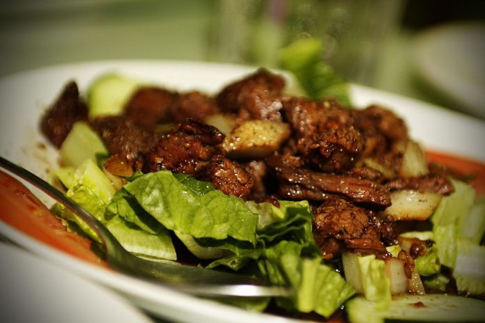 Beef loc lac Cambodian food