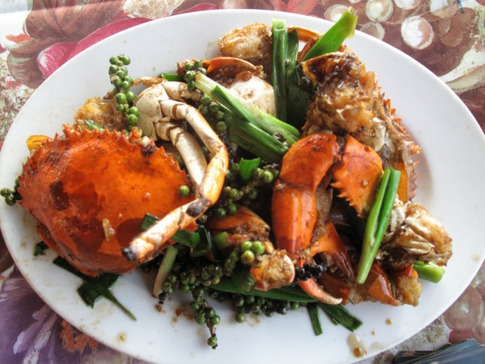 Kampot pepper crab Cambodian food