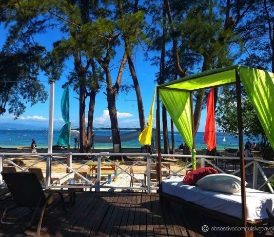 The sun deck at Manukan Island