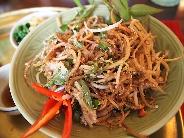 Banana flower salad Cambodian food thai food