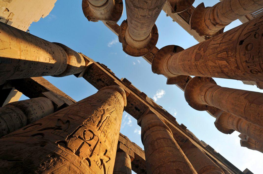Ancient Egypt temple of Karnak in Luxor