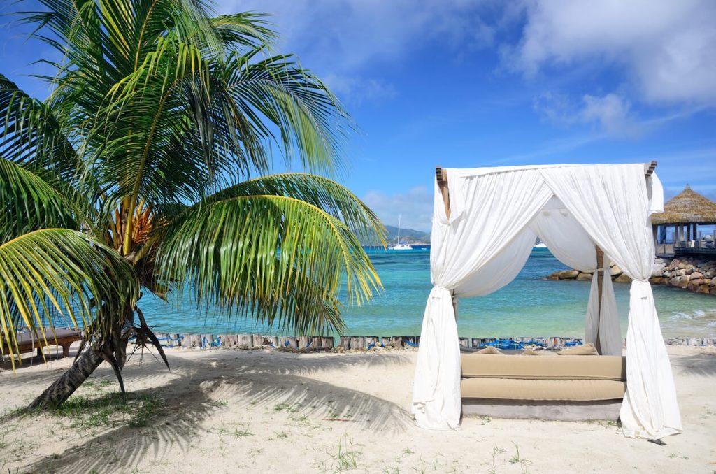 Arbor on a tropical beach, Seychelles Luxury hotels