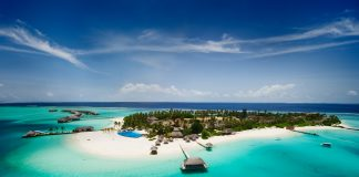 Beautiful tropical island of Maldives