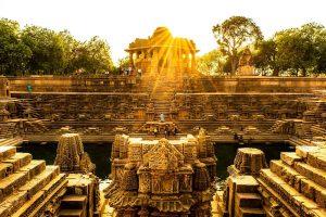 The water tank at the Sun Temple, Modhera, Gujarat