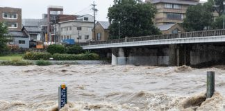 disaster in japan, Torrential rain in Kyoto, July 2018