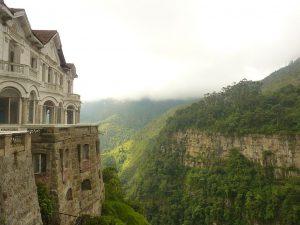 The abandoned Hotel del Salto next to Tequendama Falls
