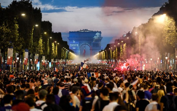 French world cup win paris 2018