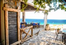 A Taverna in Ios, Greece authentic greek food
