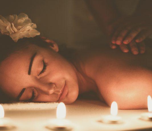 Massage treatment in spa.