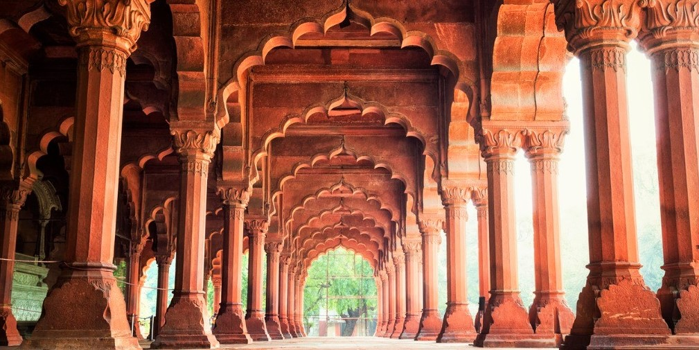 Diwan-i-Am at the Red Fort in Delhi, India