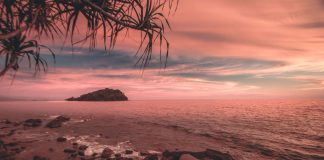 Sunset at Manukan Island - southeast asia travel