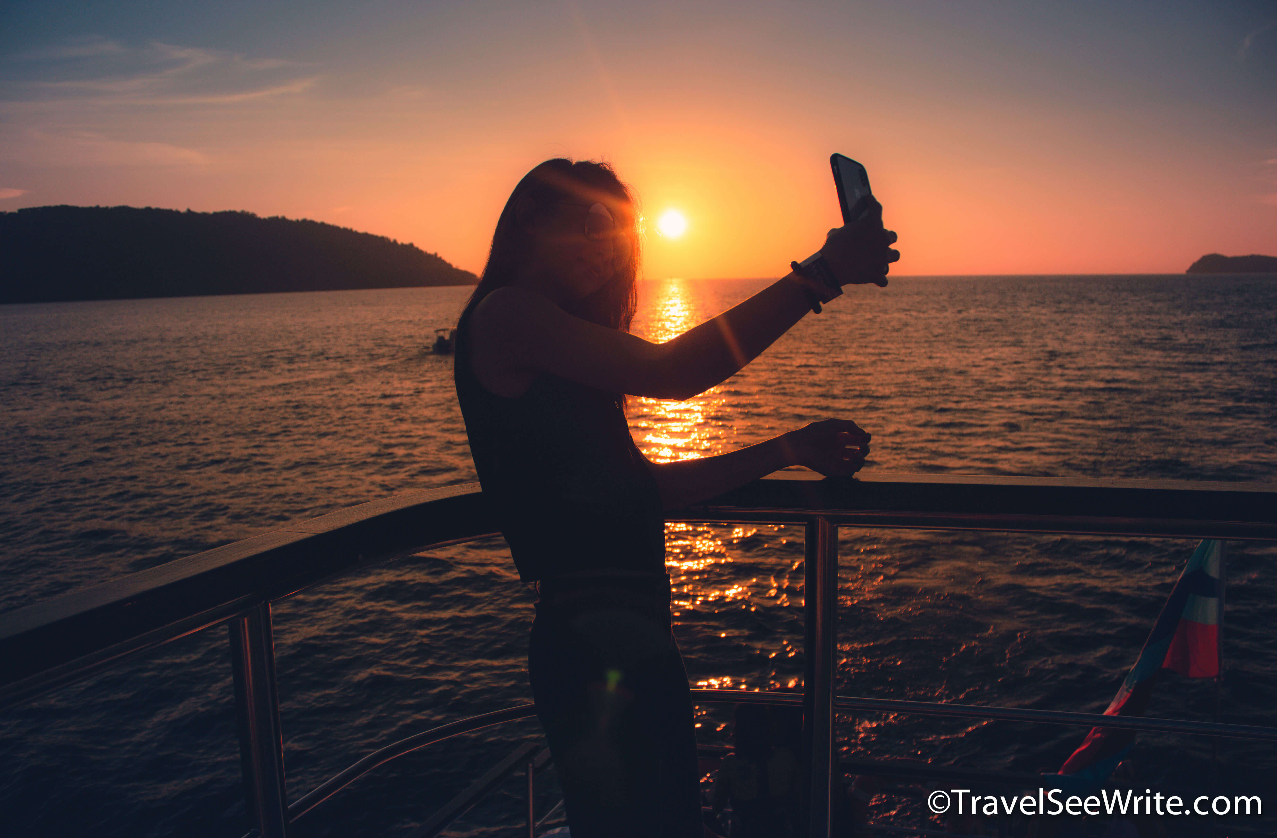 Sunset at the North Borneo Cruise - southeast asia travel