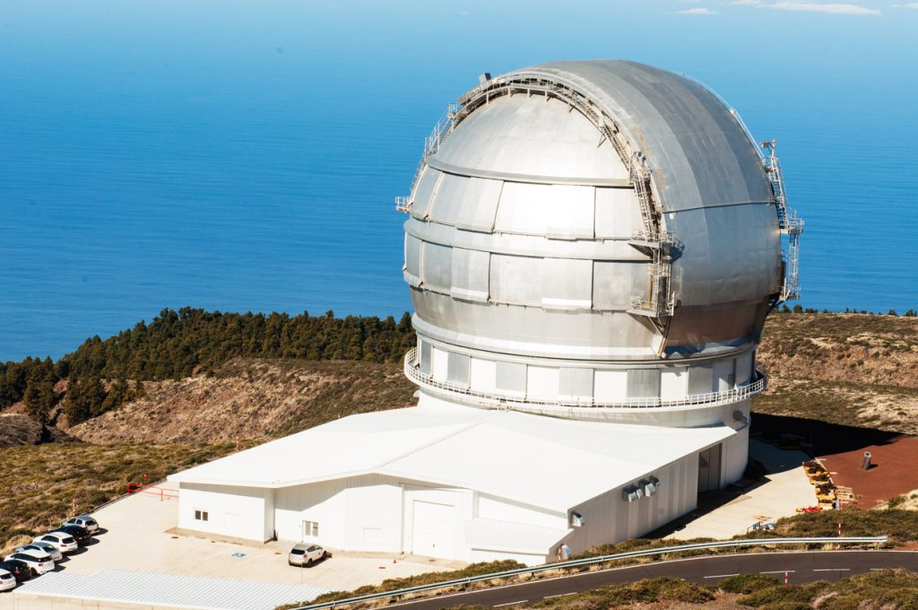 Grantecan telescope located at the Roque de los Muchachos Observatory on La Palma, Canary Islands