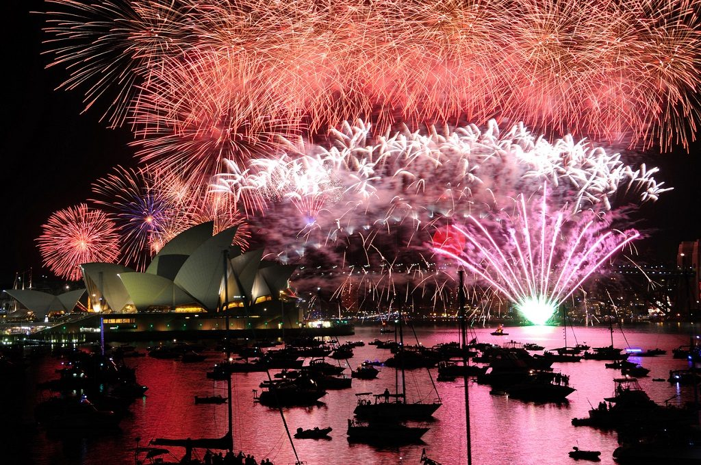 Sydney celebrate the new year New Year