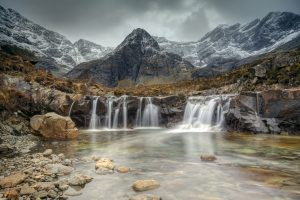 Fairy Pools on the Isle Of Skye. Scotland