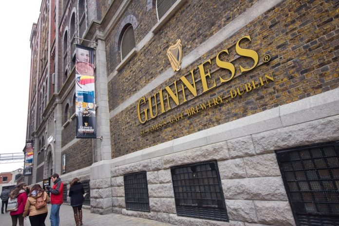 Visitors at The Guinness Storehouse Brewery at St. James Gate, Dublin Ireland