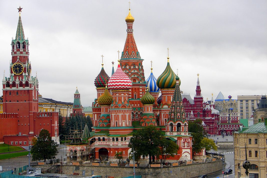 Above St Basil's Cathedral, Red Square and Kremlin panorama, Moscow, Zodiac Signs