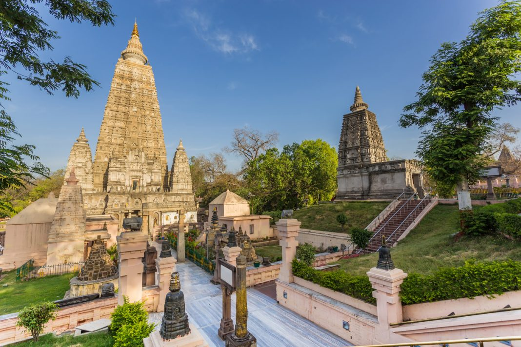 Mahabodhi temple, bodh gaya, India.