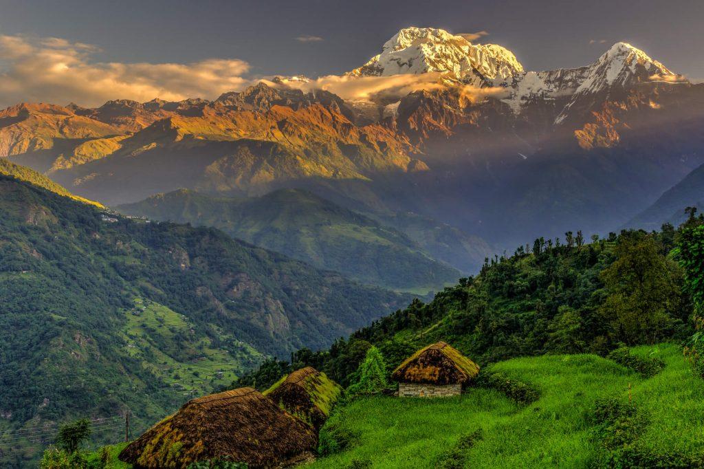 Annapurna Mountain Range in the Himalayas