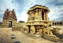 Stone Chariot at Vittala Temple Hampi, ancient temples in India