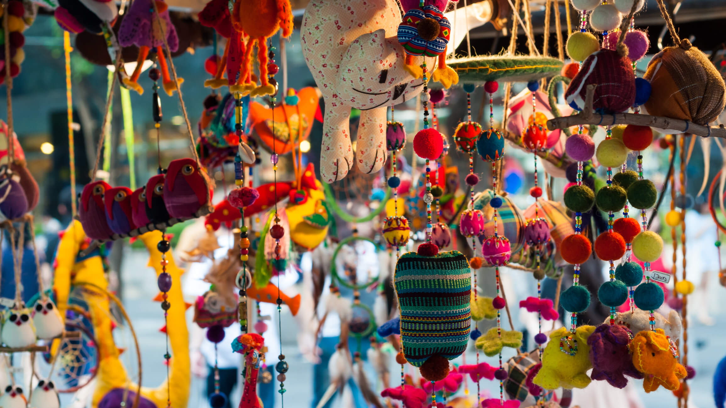 Hanging dolls at the flea markets in Seoul - shopping in Seoul