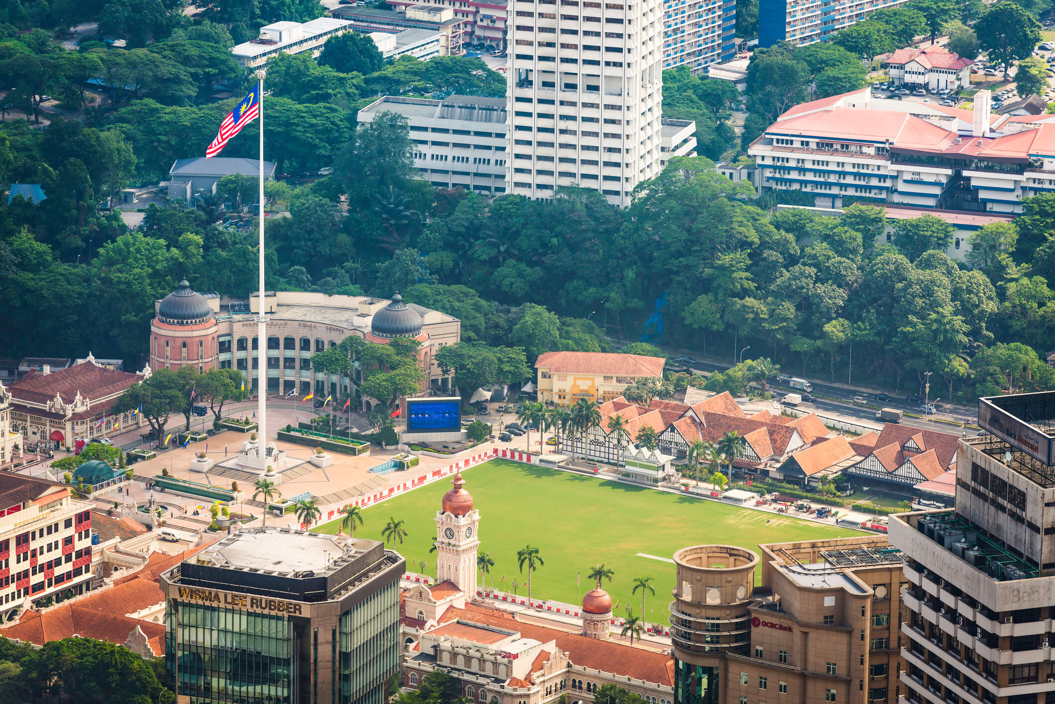Aerial view of Merdeka Square in KL - things to do in Kuala Lumpur