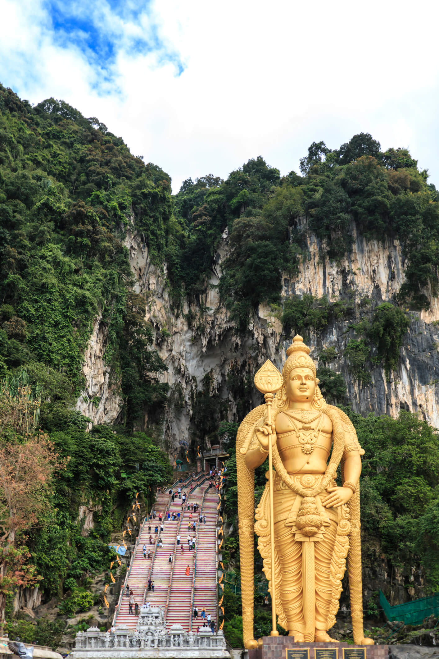Entrance to Batu caves with the statue of Murugan - things to do in Kuala Lumpur