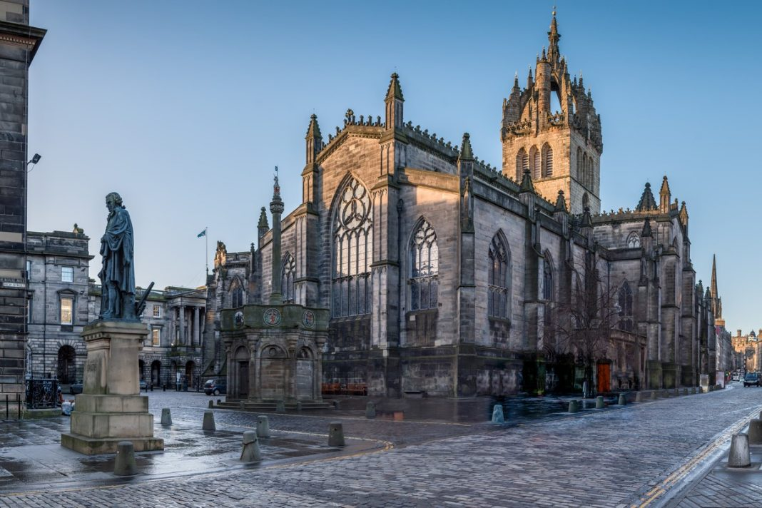 St Giles Cathedral in Edinburgh's old town
