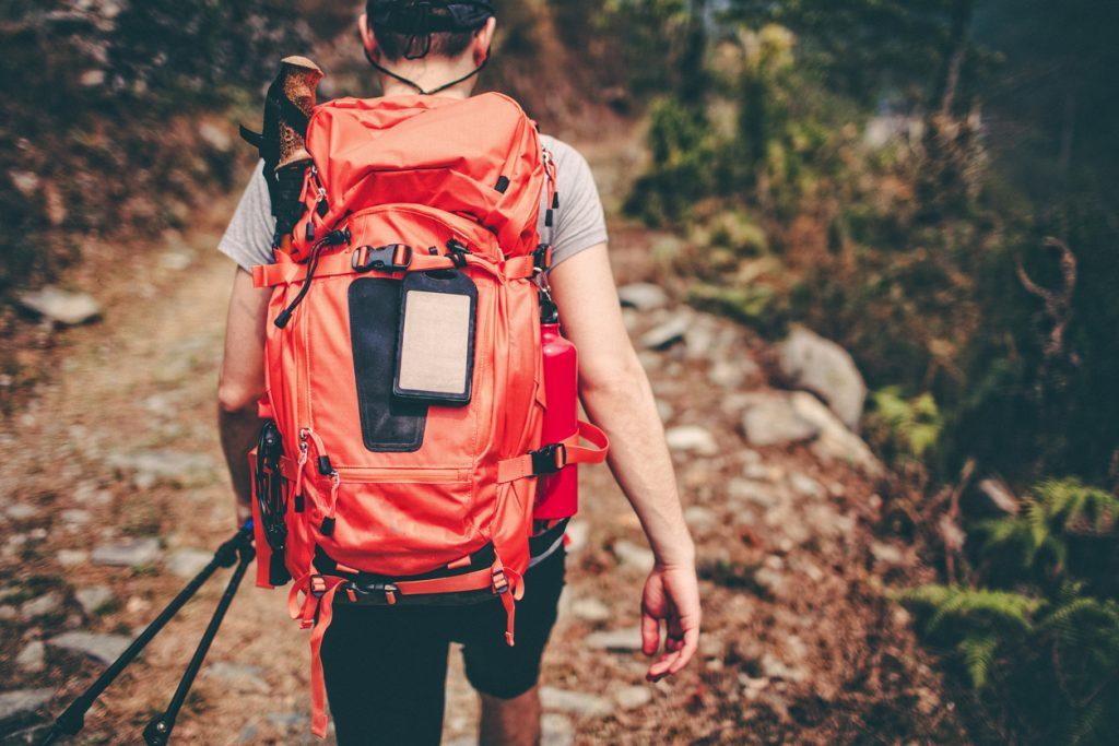 Hiker backpack trekking essentials, John Muir Trail